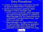 entry procedures41