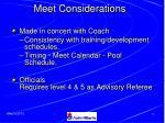meet considerations
