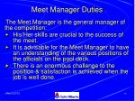meet manager duties