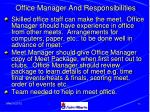 office manager and responsibilities