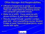 office manager and responsibilities76