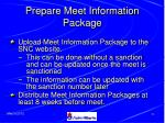 prepare meet information package33