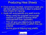 producing heat sheets
