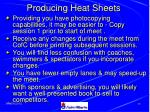 producing heat sheets48