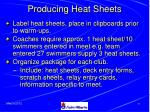producing heat sheets50