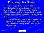 producing heat sheets51