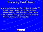 producing heat sheets52