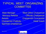 typical meet organizing committee
