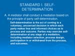 standard i self determination