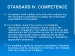 standard iv competence