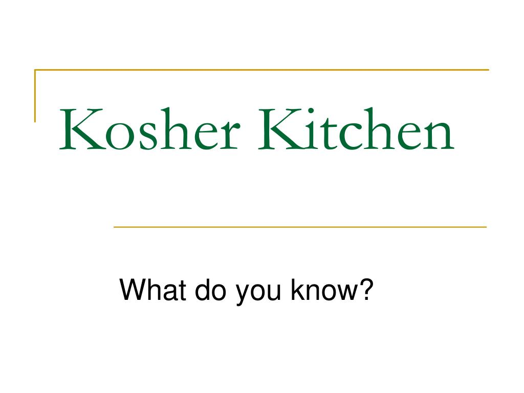 kosher kitchen l.
