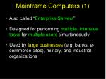 mainframe computers 1