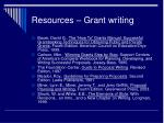 resources grant writing