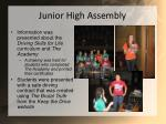 junior high assembly