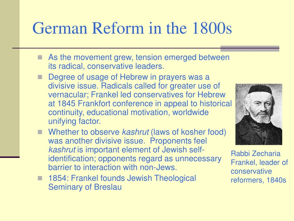 German Reform in the 1800s