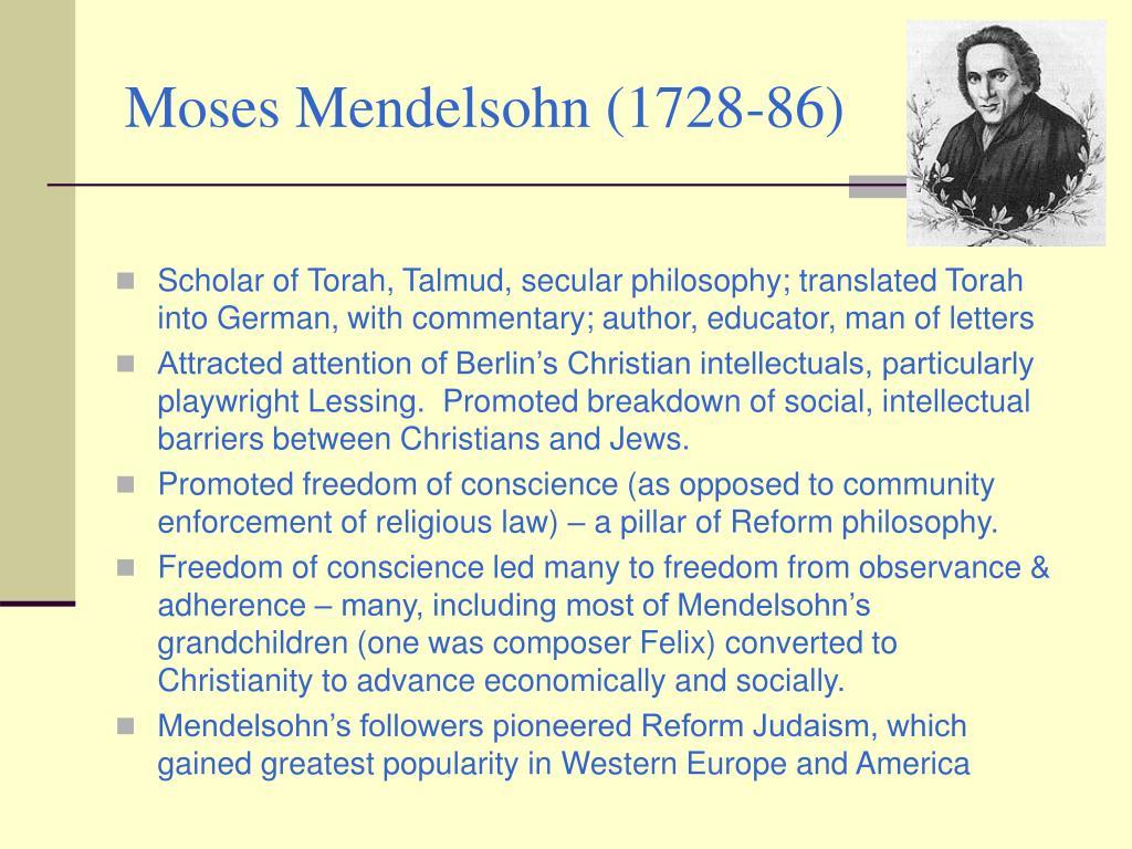 Moses Mendelsohn (1728-86)