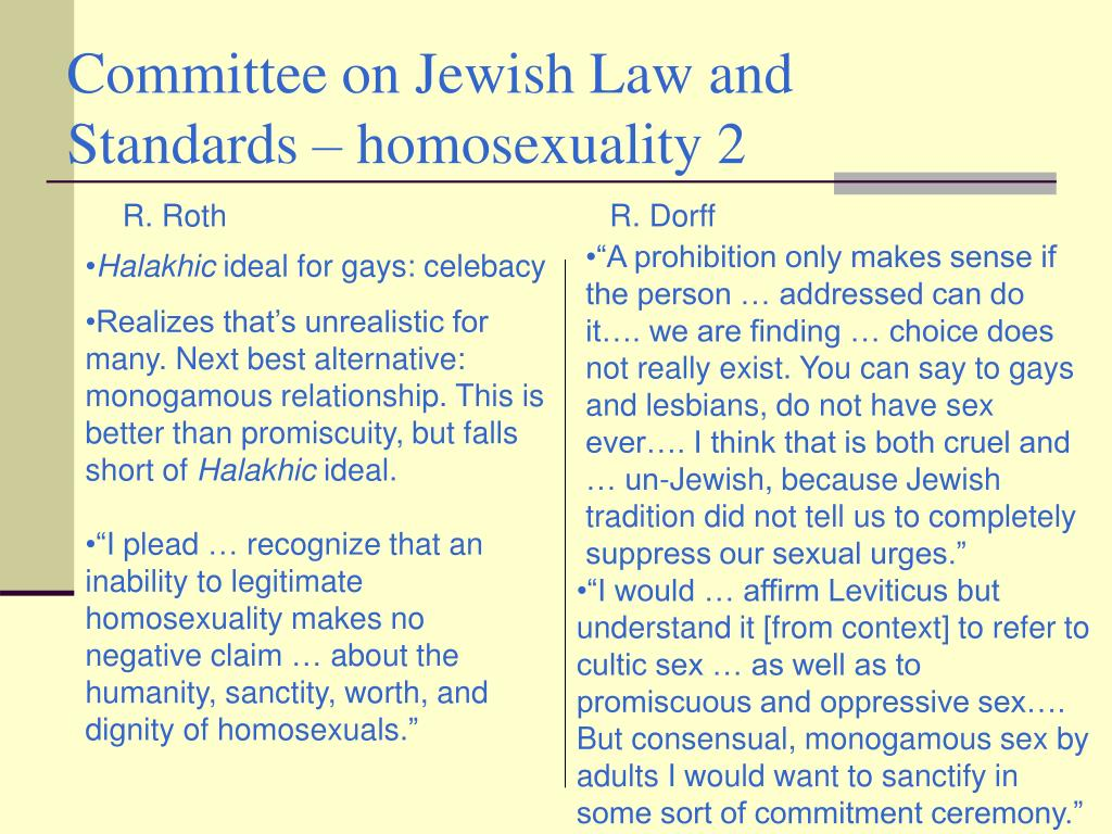 Committee on Jewish Law and Standards – homosexuality 2