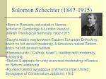 solomon schechter 1847 1915
