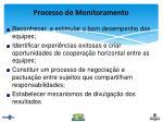 processo de monitoramento
