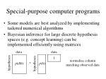 special purpose computer programs50