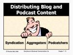 distributing blog and podcast content