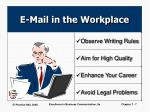 e mail in the workplace7