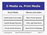 e media vs print media