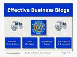 effective business blogs