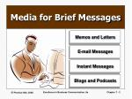 media for brief messages