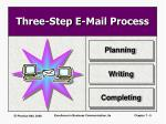three step e mail process