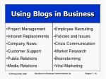 using blogs in business
