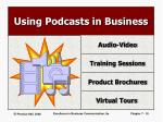 using podcasts in business