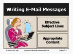 writing e mail messages