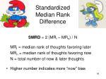 standardized median rank difference