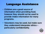 language assistance23