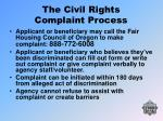 the civil rights complaint process