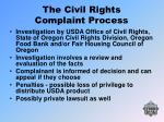 the civil rights complaint process31