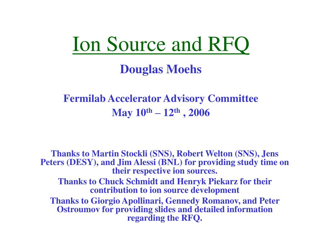 ion source and rfq l.