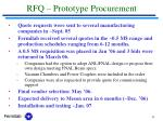 rfq prototype procurement