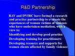 r d partnership