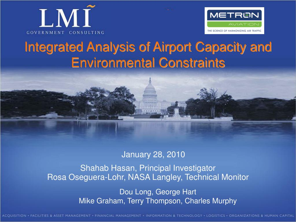 integrated analysis of airport capacity and environmental constraints l.