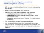 subtask 4 3 analyze airport capacity constraints gates gate capacity model summary