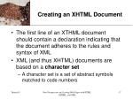 creating an xhtml document