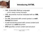 introducing xhtml4