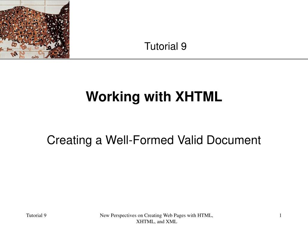 working with xhtml l.