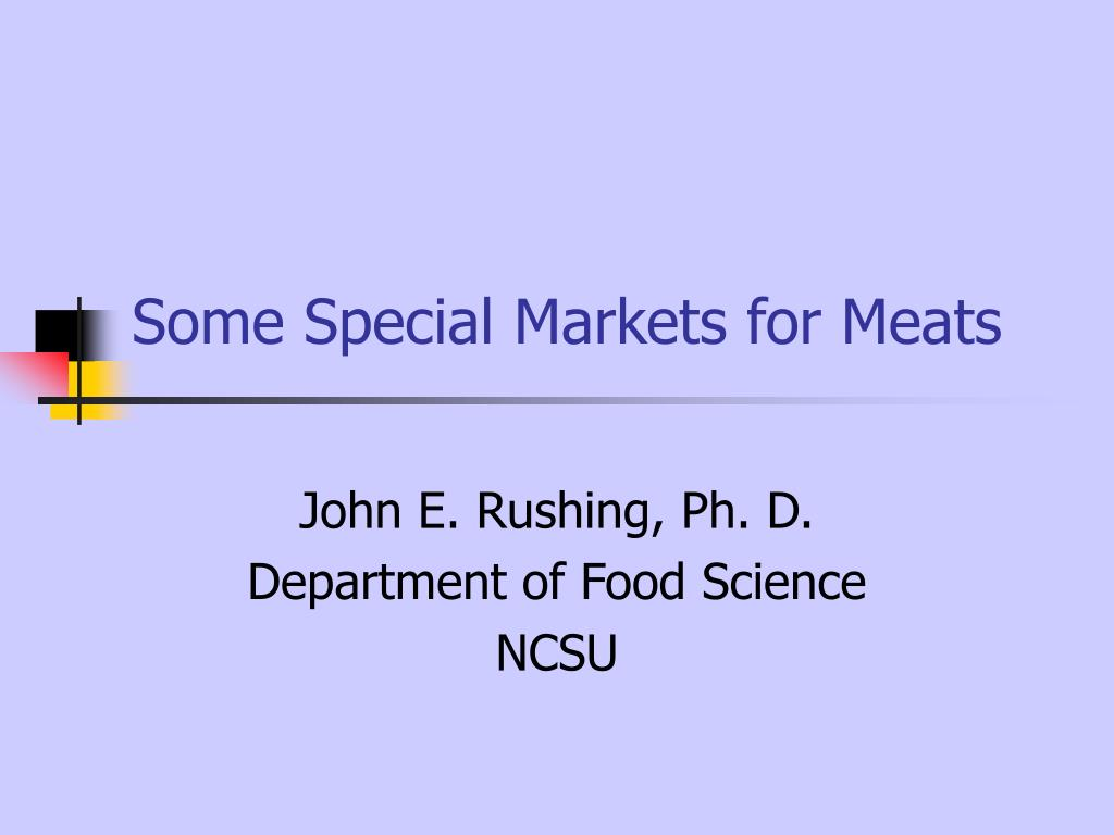 some special markets for meats l.