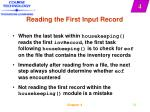 reading the first input record23