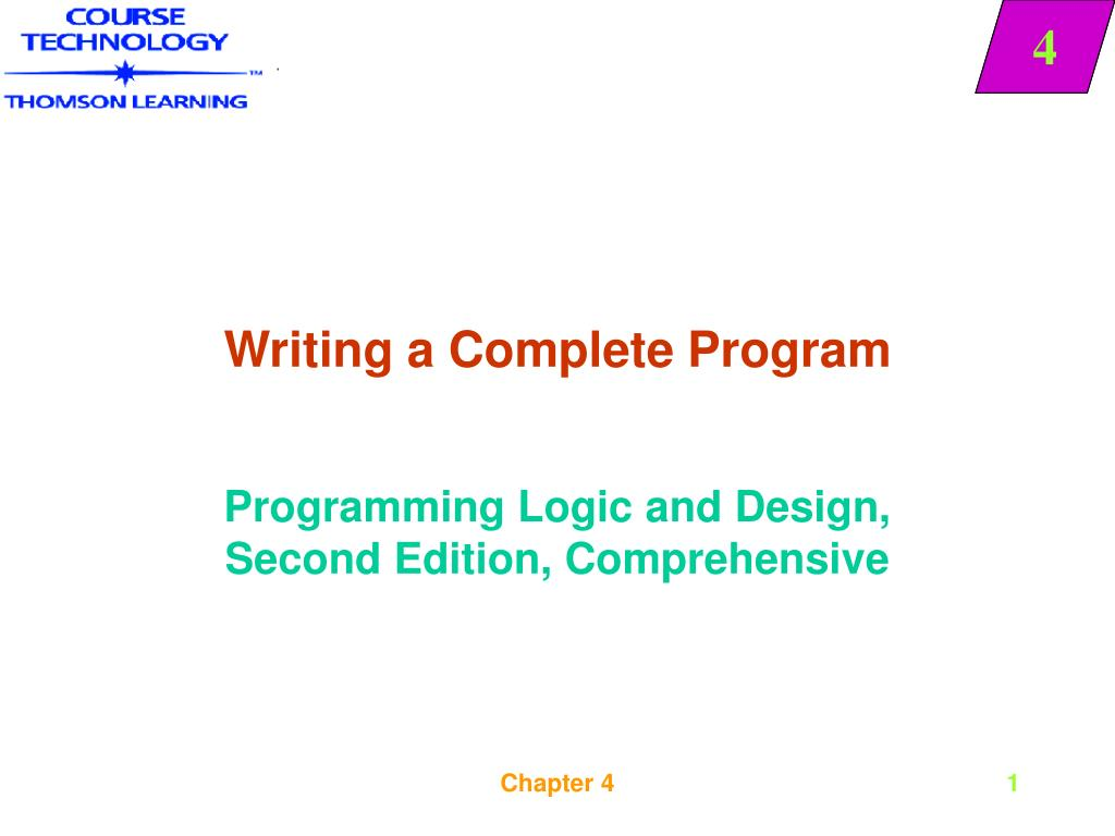 writing a complete program l.