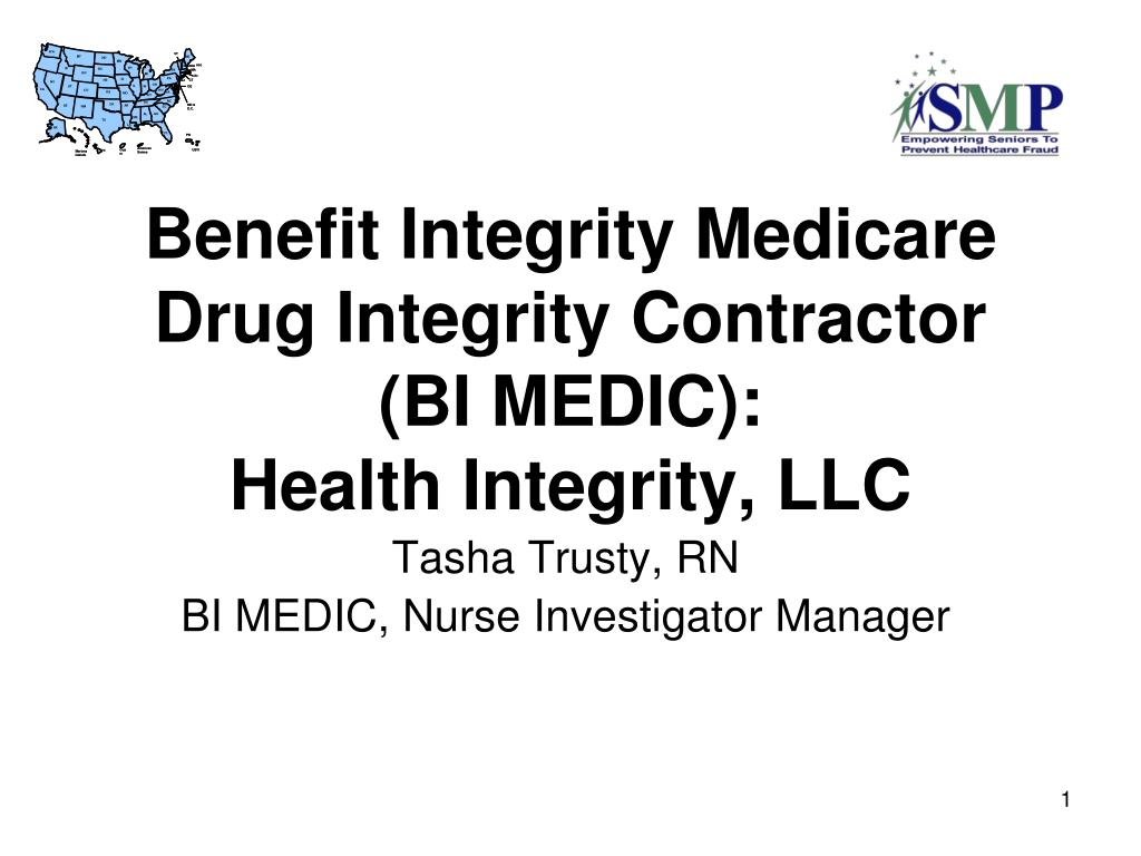 benefit integrity medicare drug integrity contractor bi medic health integrity llc l.