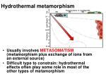 hydrothermal metamorphism10